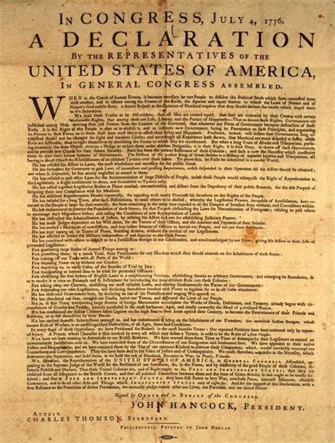 Is The Declaration Of Independence A Document the declaration of independence the text in