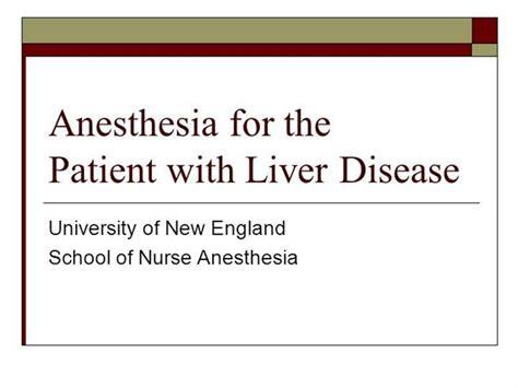 liver pathology anesthesia key anesthesia for liver disease authorstream