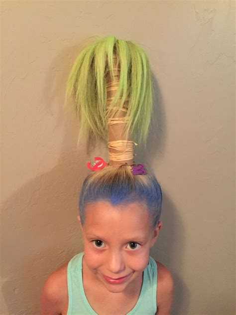 perfect for vbs crazy hair day for hadley bear someday easy crazy hairstyles for short hair hair