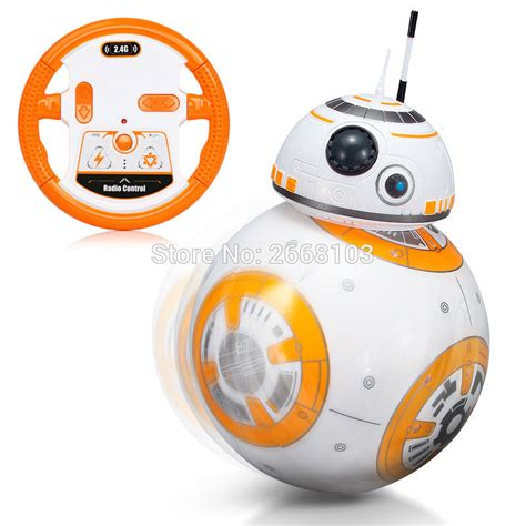 Remote Bb 8 Droid Wars wars rc upgrade droid with sound bb 8 2 4g remote bb 8 intelligent robot