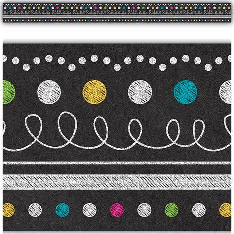 Blackboard Stickers For Walls chalkboard brights straight border trim tcr5619
