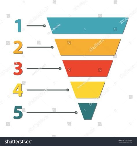 Funnel Symbol Infographic Web Design Element Stock Vector 298398308 Shutterstock Sales Funnel Website Template