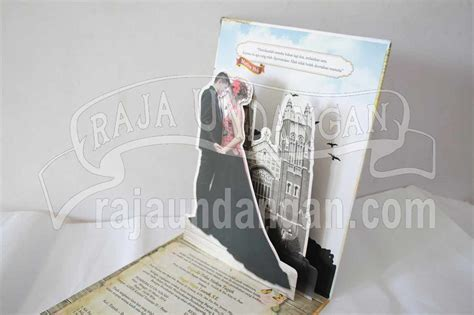 Undangan Terima Jadi Undangan Jadi 88165 undangan pernikahan hardcover pop up 3d kia dan edc 67