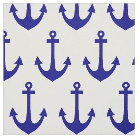 fabric pattern anchor navy blue nautical anchor pattern fabric zazzle