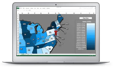 excel us sales map pin it excel dashboards