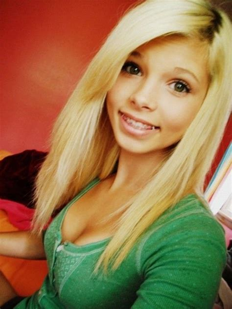 blonde models with braces cute long blonde hair with braces hair pinterest