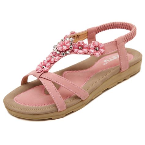 shoes for flower 2016 sweet sandals soft flower s bohemia flat shoes