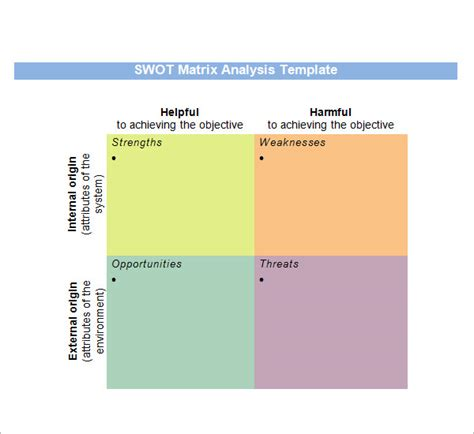 swot matrix template sle swot analysis 13 documents in word pdf