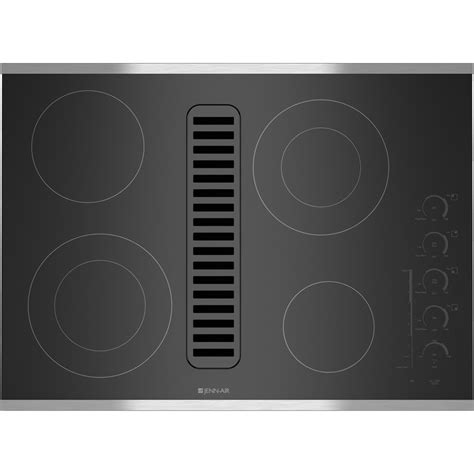 downdraft exhaust fan for cooktop jed4430ws jenn air 30 quot downdraft radiant cooktop stainless