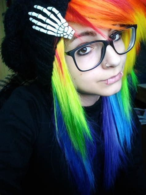 cute hairstyles rainbow 15 cute emo hairstyles for girls 2015 red green suits