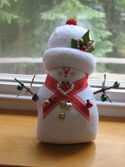 sock snowman christmas crafts pinterest