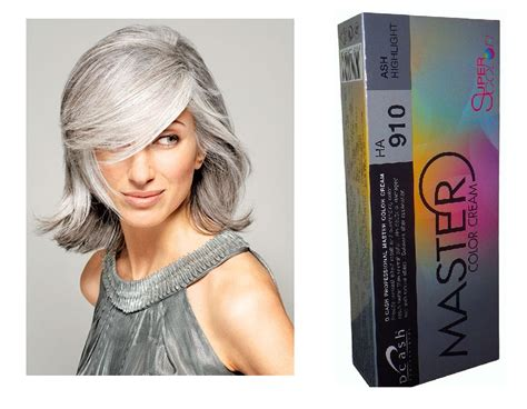 Grey Hair Dye | dcash master cream ha 910 ash gray permanent hair dye