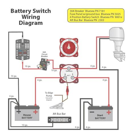 marine dual battery switch wiring diagram boats boat