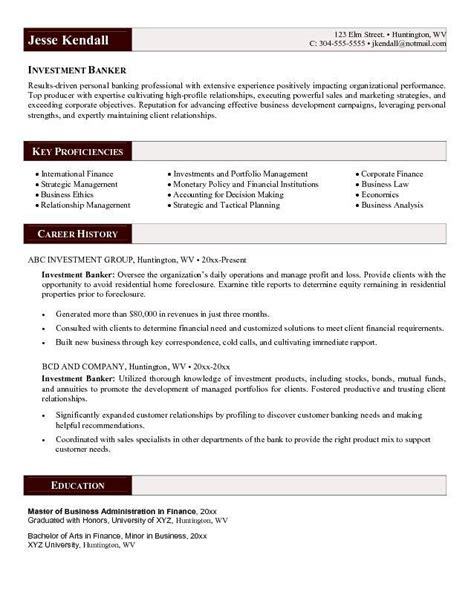 sle resume relationship management skills definition investment banker resume
