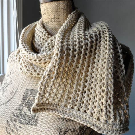 knitted ribbed scarf pattern rustic ribbed mesh scarf purl avenue