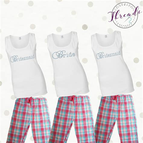 braut pyjama bridal pajama set personalised bride pyjamas pajamas