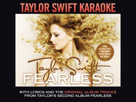 taylor swift change karaoke taylor swift fearless karaoke digital booklet
