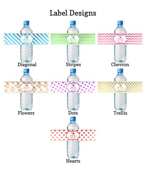 label design cost water bottle labels wedding real metallic print lowest