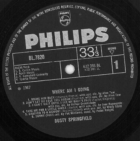 Springfield Records Dusty Springfield Where Am I Going Vinyl Lp Planet Earth