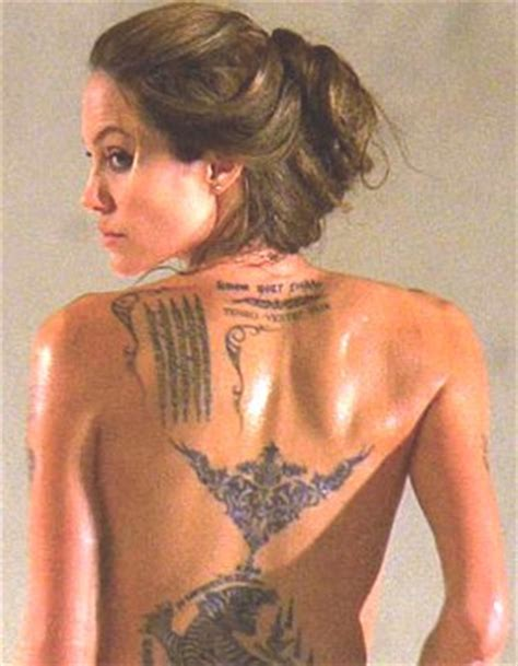 angelina jolie y sus tatto angelina y sus nuevos tatuajes noticias