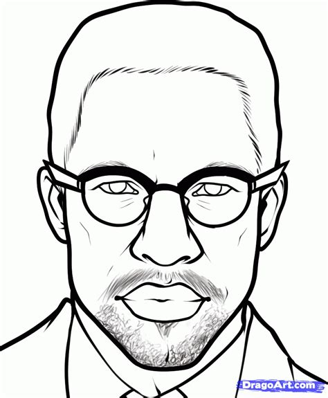 coloring pages malcolm x draw malcolm x step by step drawing sheets added by