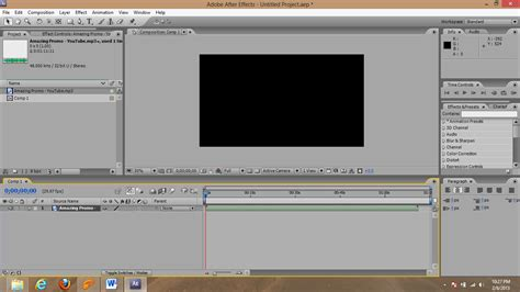 tutorial opening dengan after effect opening effect dengan menggunakan after effect