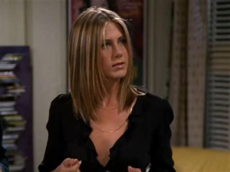 rachel thinning hair jennifer aniston as rachel green in friends with a short