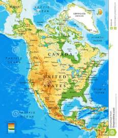 Physical map of north america stock vector image 68694198