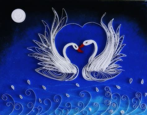 quilling swan tutorial 562 best quilled animals fish birds etc images on