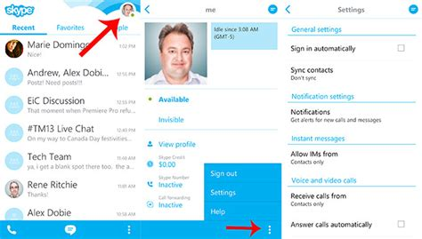 how to logout of email on android how to sign out of the new skype 4 0 for android android central