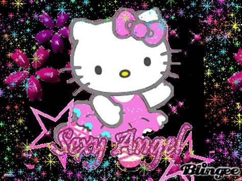 imagenes de kitty brillantes hello kitty imagenes con flores