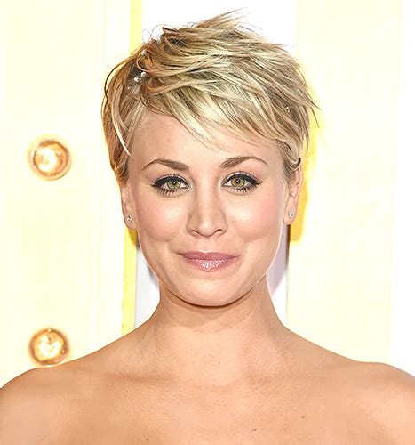 short hair cuts during chemo kaley cuoco sweeting hair is short hot and pink main