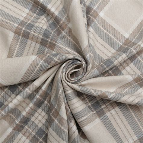 Tartan Fabrics For Upholstery by 100 Cotton Tartan Check Pastel Plaid Faux Wool Sofa