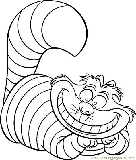 coloring pages cheshire cat color animals gt cats free