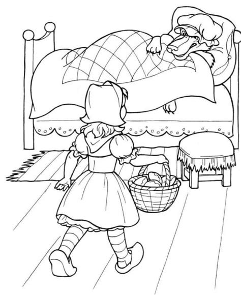 amazing coloring pages little red riding hood printable