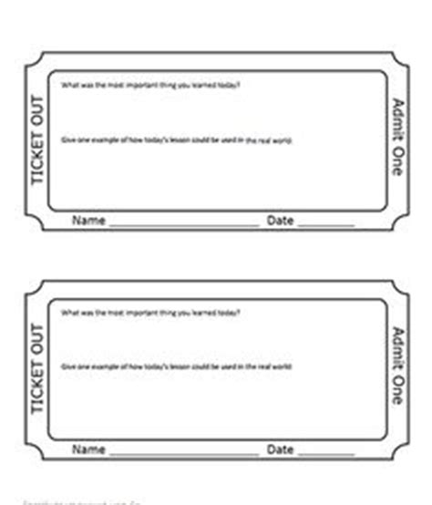 exit slips on pinterest exit slips exit tickets and