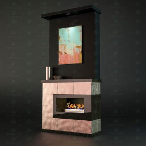Fireplace 3d by 3d Model Fireplace For Free On 3dlancer Net