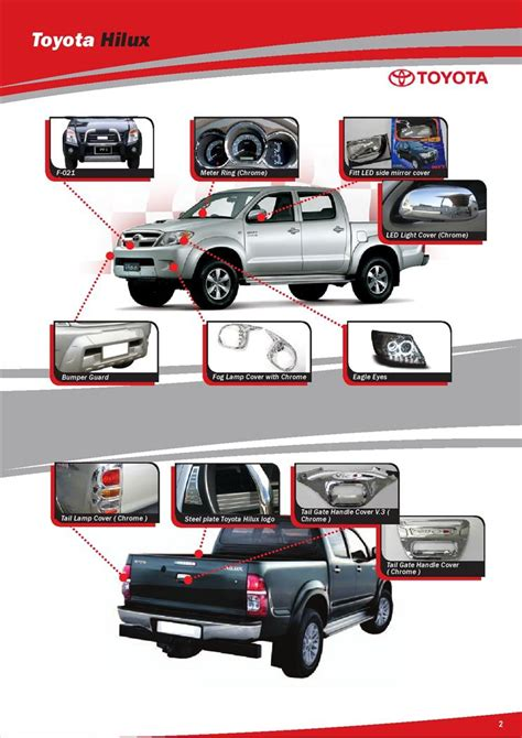Toyota Part And Accessories Toyota Hilux Accessories Styling Catalogue Html Autos Post
