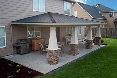 backyard porch designs for houses glamorous outdoor kitchen covered patio with stone dust