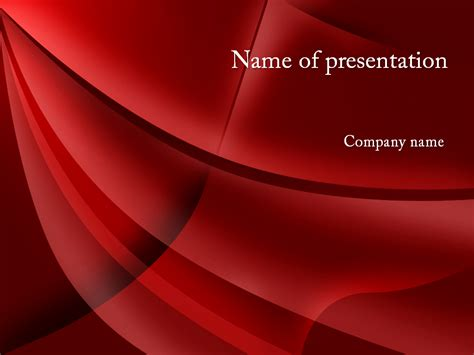 Download free Red Waves powerpoint template for