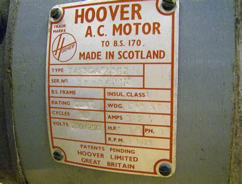 wiring my hoover motor model engineer