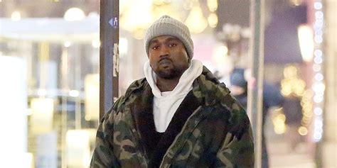 Kanya Miulan kanye west wears a camouflage coat while working in milan kanye west just jared