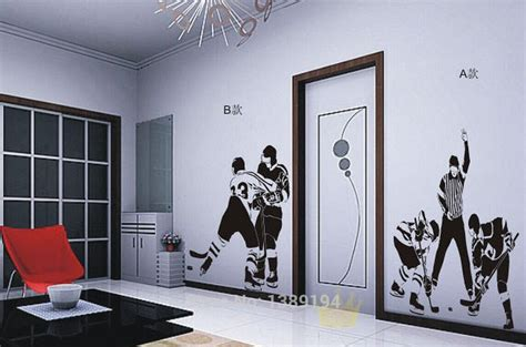 high quality hockey sports wall stickers living room