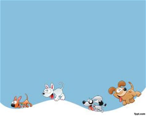 themes powerpoint kartun running dogs powerpoint template