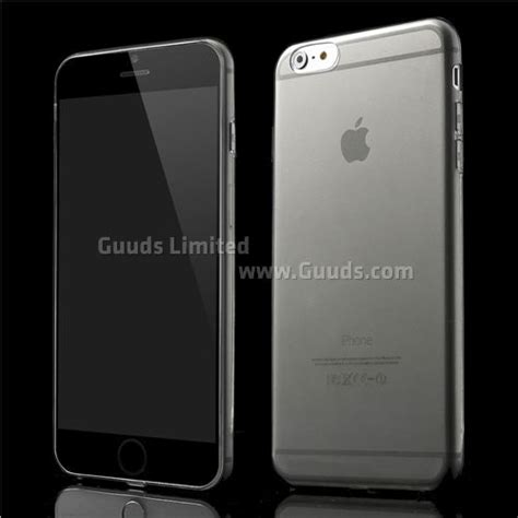 Ultra Thin Iphone 6 Soft Grey ultra thin tpu back cover for iphone 6 plus 5 5 inch