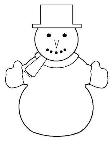snowman templates to cut out activities for handmade snowmen crafts for