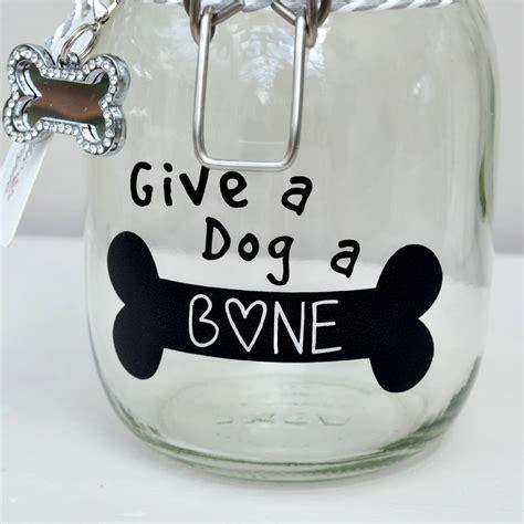 Give A A Bone by Give A A Bone Pet Treat Storage Jar By Cosy Chic Pet