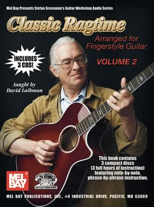 decidedly with by the bay volume 3 books classic ragtime guitar volume 2 book 3 cd set grossman