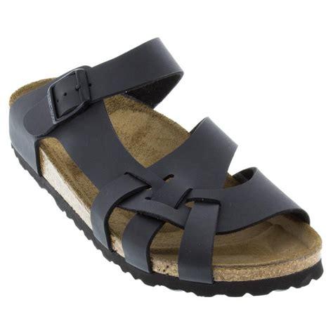 birkenstock pisa sandals womens birkenstock pisa black birko blor happyfeet