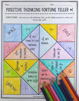 fortune teller paper craft positive thinking fortune teller craft by pathway 2